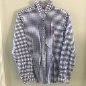 Brooks Brothers Button Down Shirt Pink Logo Size 6